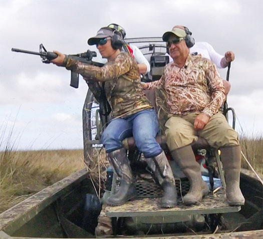 """Hunting Hogs with Elite Airboat Hog Hunting in Violet, LA is not only adventurous and exciting, but is also a great way to help control the feral hog population!"