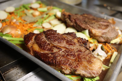 Hearty meals that include a steak dinner at Bad River Bucks & Birds in Draper, SD
